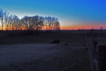 Sunset on a heritage farm in Peterborough County, with a Spring Peeper chorus in the background. Recorded by Artful Productions - the Slow TV / Slow Film store